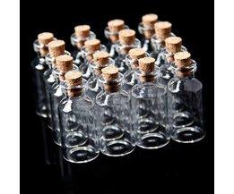 Mini Flesje met Kurk 10 Stuks