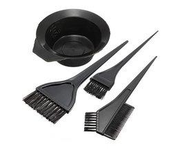 Set Haarverfkwasten en Mengbakje