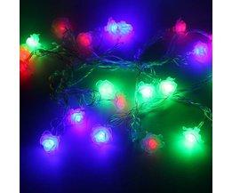 LED Lichtslinger met Roosjes 4 Meter