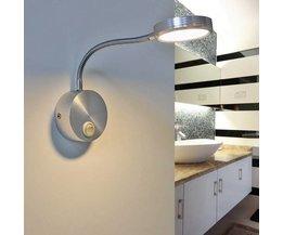Aluminium Leeslamp 3W