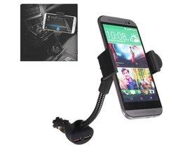Dual Autohouder & Oplader Voor Smartphones