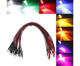 Gekleurde LEDs Voorbedraad 20 cm (5 Stuks)