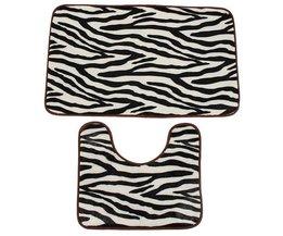 Badkamer Matten Zebra 2 Stuks