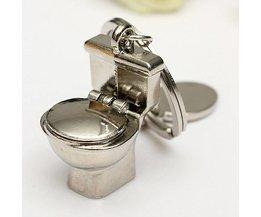 Sleutelhangers met 3D Toilet