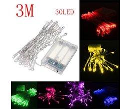 LED Feestverlichting 30 meter op Batterijen