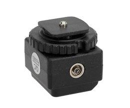 Flitsschoen voor Canon-Nikon D-SLR met PC synchronisatie