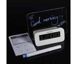 LED Alarm Wekker met Lichtgevend Bord