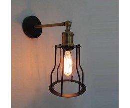 Industriele Edison Wandlamp van Ijzer