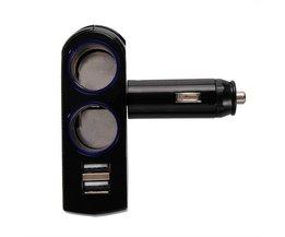 Dubbele USB Sigarettenaansteker Splitter
