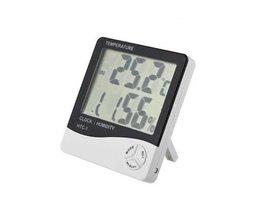 Digitale thermo-/hygrometer met Klok