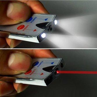 Sleutelhanger Laser en LED licht