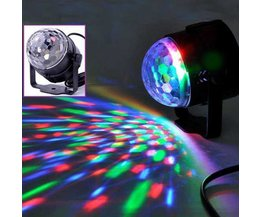 Mini Disco Lamp met Kristal Effect