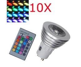 1X GU10 RGB Kleurveranderende LED Lampen