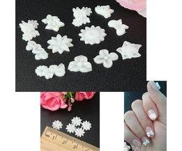 Nail Art Stickers Kopen Witte Bloemen (60 stuks)
