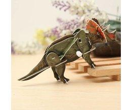 Opwindbare 3D Puzzel Dino Triceratops