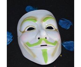Lichtgevend Vendetta Halloween Masker