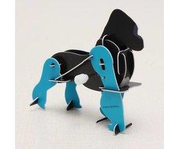 Opwindbare Gorilla 3D Puzzel