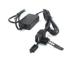Waterdichte USB Lader voor Auto of Motor