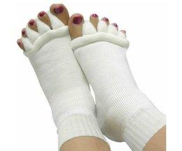 Witte Massage Teen Sokken