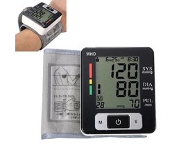 Digitale LCD Polsbloeddrukmeter