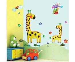 Muurstickers Kinderkamer Dieren Giraffe