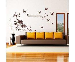 Mooie Muursticker met Vlinders
