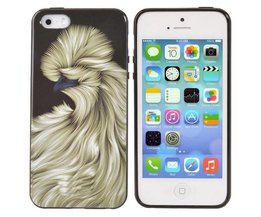 Hoesje voor iPhone 5 en 5S van TPU met Bijzondere Vogel