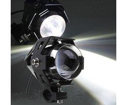 Motorfiets Koplamp Met LED-licht