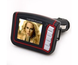 Auto MP3 MP4 Speler met FM Zender en Geheugen