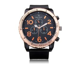 V6 Horloge Sportief en Groot