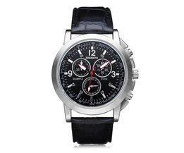 Zwart Quartz horloge voor heren