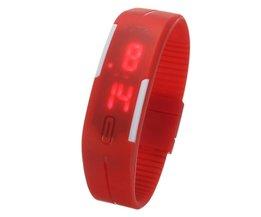 Siliconen Horloges In Vijf Kleuren