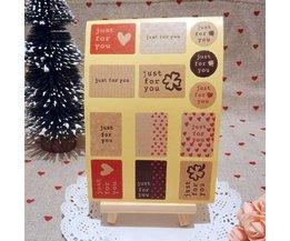 30 Vellen Valentijn Stickers