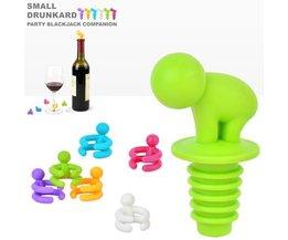 Wijnglas Markers 6Stuks met Wijnstopper