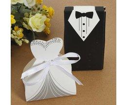 100 Geschenkdoosjes Bruiloft