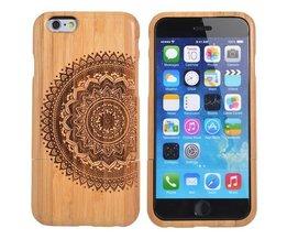 Houten Hoesje Met Mandala Patroon Voor iPhone 6