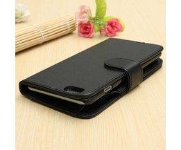 Zwarte Portemonnee Hoes Voor iPhone 6 Plus