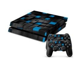 Blauw-Zwarte Console Skin Voor De Playstation 4