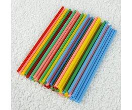 Lollystokjes in Verschillende Kleuren (50 Stuks)