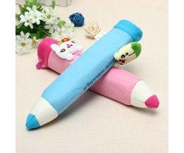 Peluche Avec Figurine Crayon Cas Mignon