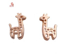 Kunia Boucles D'Oreille Avec Girafe Design