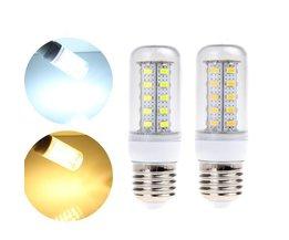 Lampe LED Tube Avec E27 Socket Blanc / Lumière Blanche Chaude