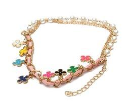 Belle Bracelet Avec Bloemetjes