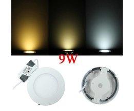 Lumière 9W LED Ronde De Plafond