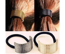 Élastique Cheveux Bande Métallique