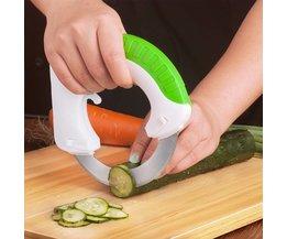 Nouveau Gadget de Cuisine En Acier Inoxydable Tour De Roue Hachoir à Légumes Trancheuse Laminage Circulaire Couteau Facile Outils De Coupe