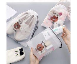 Ours brun sac cosmétique Transparent voyage étui de maquillage femmes fermeture éclair maquillage organisateur de bain pochette de rangement toilette lavage Beaut Kit