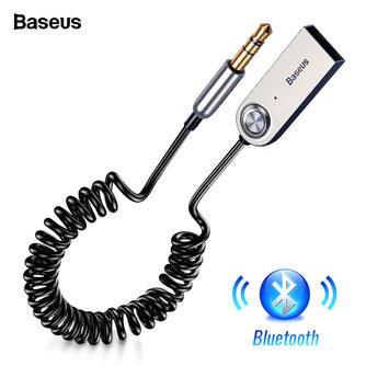Baseus USB Bluetooth adaptateur Dongle câble pour voiture 3.5mm Jack Aux Bluetooth 5.0 4.2 4.0 récepteur haut-parleur Audio musique émetteur