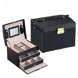 Boîte d'emballage de bijoux boîte de cercueil pour bijoux exquis étui de maquillage organisateur de bijoux boîtes de conteneurd'anniversaire de Graduation