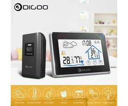 Digoo DG-TH8380 tactile intérieur extérieur Station météo + 100m prévision capteur thermomètre hygromètre mètre calendrier 3CH rétro-éclairage